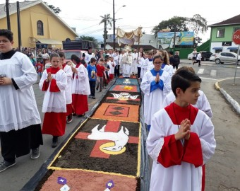 Tapetes de Corpus Christi - Comarca Norte | Fotos: Pascom