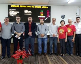 Homenagem à Festa do Divino de Barra Velha na Câmara de Vereadores (anterior à pandemia)