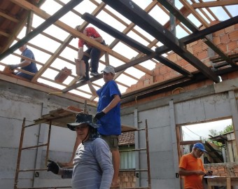 Casa reconstruída pela Carpintaria de São José