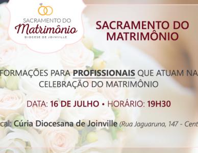 Formação para profissionais que atuam nas celebrações do sacramento do matrimônio
