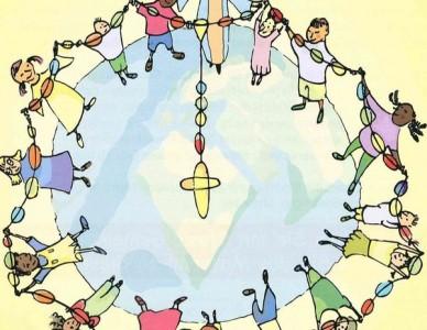 1 milhão de crianças rezando pela paz