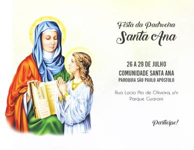 Festa da Padroeira na Comunidade Santa Ana