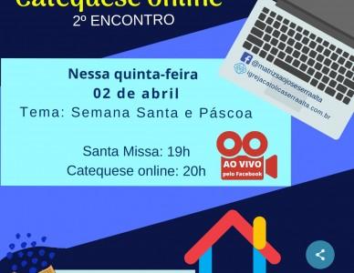 2º Encontro online de catequese da paróquia São José de São Bento do Sul é nesta quinta-feira