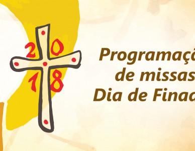 Programação de missas Dia de Finados 2018