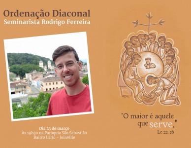 Ordenação diaconal: Seminarista Rodrigo Ferreira