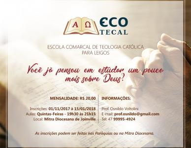 Inscrições abertas para ECOTECAL