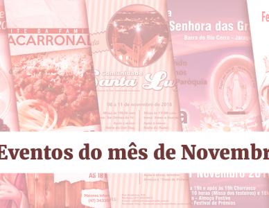 Confira as festas e comemorações pela Diocese no mês de novembro