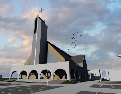 Nova igreja matriz no bairro Iririú