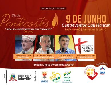 Concentração diocesana de Pentecostes: dia 9 de junho no Centreventos Cau Hansen