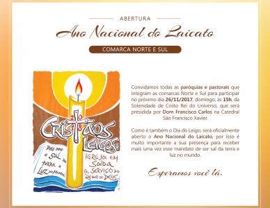 Abertura do Ano Nacional do Laicato e Solenidade de Cristo Rei do Universo