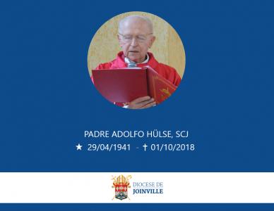 Nota de falecimento - Padre Adolfo Hülse, SCJ