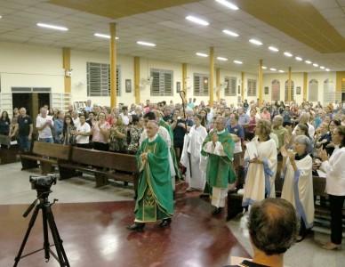 Missas marcaram as confraternizações de 25 anos da Pastoral Antialcoólica