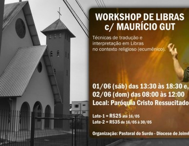 Pastoral do Surdo promove workshop de libras com Maurício Gut