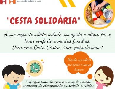 """Campanha """"Cesta Solidária"""" da Fundação padre Luiz Fachini"""