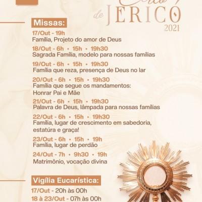 Cerco de Jericó na Paróquia São Sebastião, de Jaraguá do Sul