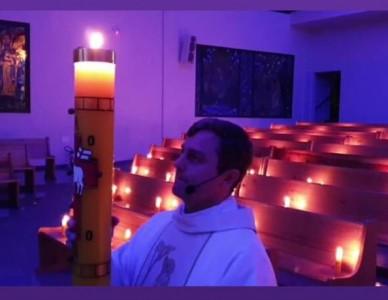 Comunidade católica de Itaiópolis usa a criatividade e valoriza recursos nos ritos pascais