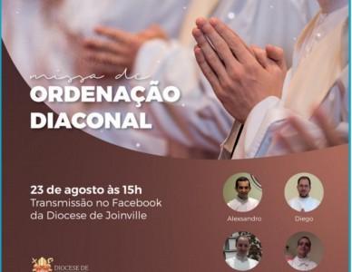 Conheça os 4 diáconos que serão ordenados domingo