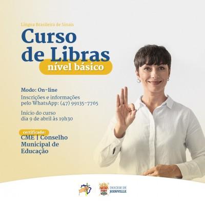 Curso básico de Libras será on-line