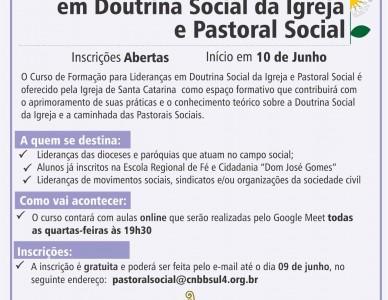Curso oferece formação para lideranças em Doutrina e Pastoral Social