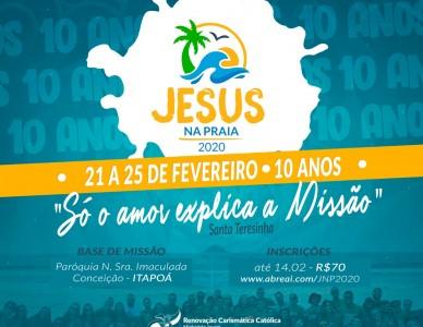 Jesus Na Praia será realizado durante o Carnaval, em Itapoá
