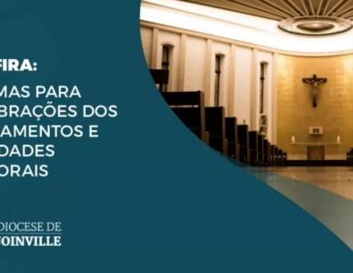 Diocese de Joinville define regras para encontros, sacramentos e eventos até o fim deste ano