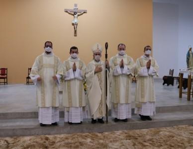Diocese de Joinville tem quatro novos diáconos transitórios