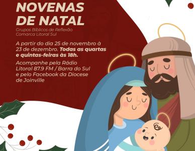 Diocese de Joinville transmite, ao vivo, Novena de Natal