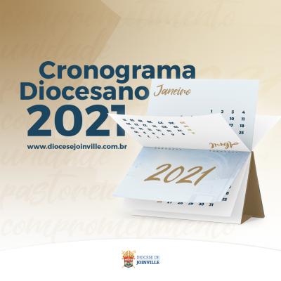 Diocese disponibiliza cronograma de 2021
