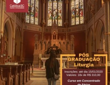 Católica SC abre inscrições para pós em Liturgia