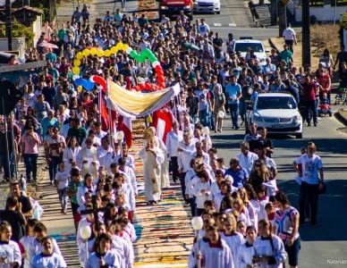 Corpus Christi é marcado pela união paroquial e peregrinação de São Francisco Xavier em Massaranduba