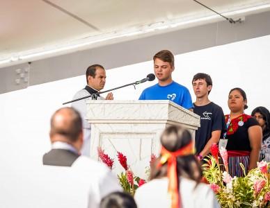 Jovem de Joinville participa da liturgia da Missa de envio da JMJ no Panamá