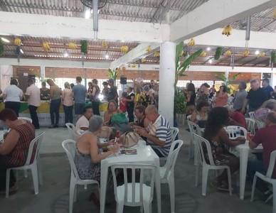 Festa da Banana movimenta comunidades católica e luterana no Vila Nova