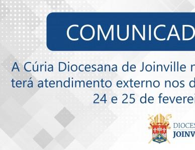 Comunicado: expediente de carnaval da Cúria Diocesana