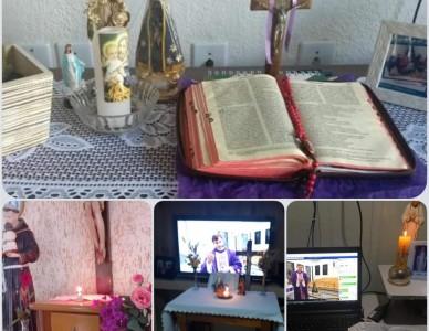 Fiéis de Itaiópolis preparam altar nas casas para momentos de oração em família