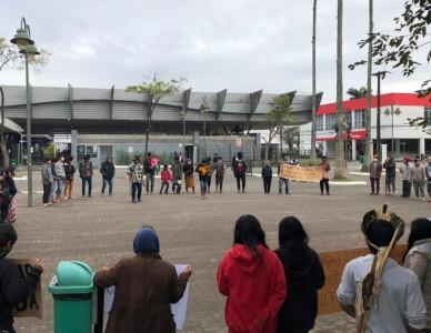 Indígenas da região se manifestam contra PL 490