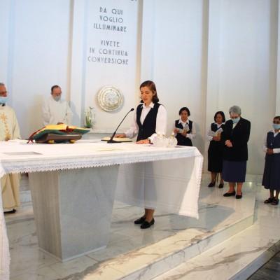 Irmã Mery Elizabeth de Sousa fez a profissão perpétua