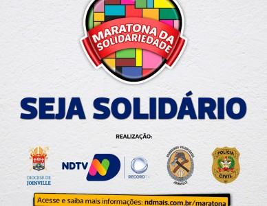 Maratona da Solidariedade: ponto de entrega de doações
