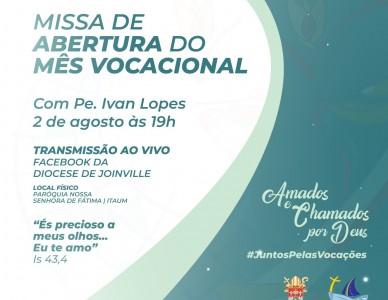 Missa de abertura do mês vocacional será no próximo domingo