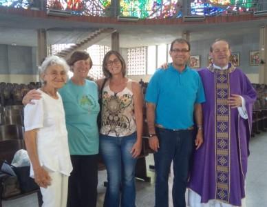 Voluntária visita Diocese de Joinville