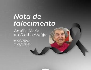 Nota de falecimento: Amélia Maria da Cunha Araújo