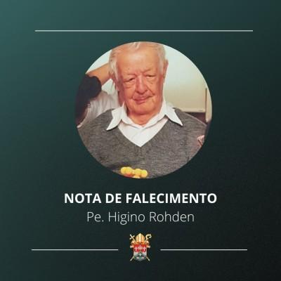Nota de falecimento padre Higino Rohden