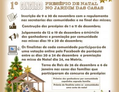Paróquia do Adhemar Garcia realiza concurso de Presépios