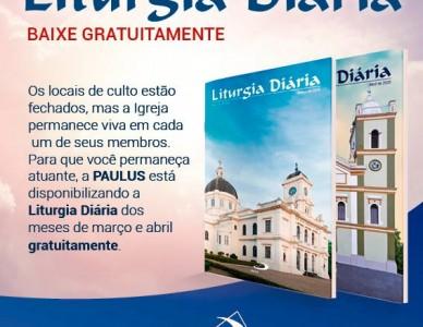 Paulus oferece gratuitamente Liturgia Diária de março e abril