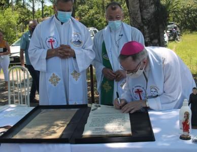 Pedra Fundamental do Pequeno Cotolengo Joinvilense é lançada no bairro Morro do Meio