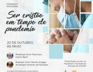 Ser cristão em tempo de pandemia é tema de live da Diocese de Joinville